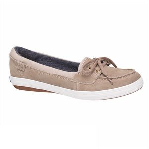 Keds Glimmer Suede Boat Shoes Tan Brown Beige 10